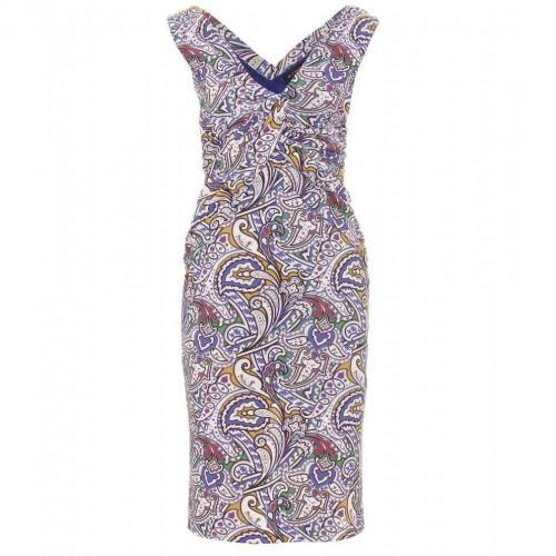 Etro Drapiertes Kleid Mit Paisley-Print