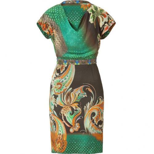Etro Jade/Mandarin Pattern Kleid