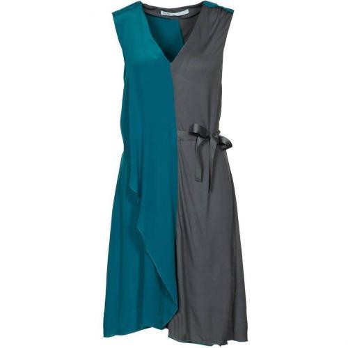 Fairly Jerseykleid türkis/ grau