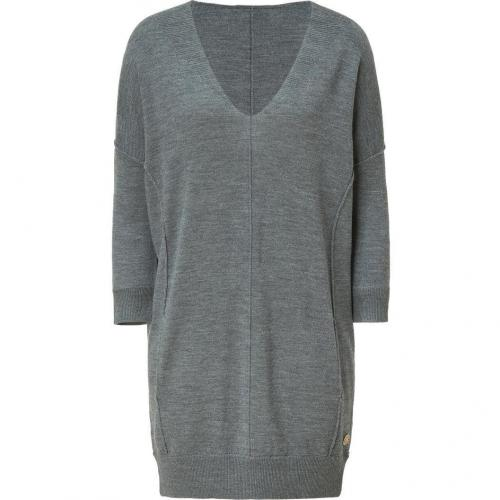 Faith Connexion Grey Knitted Dress with Pockets