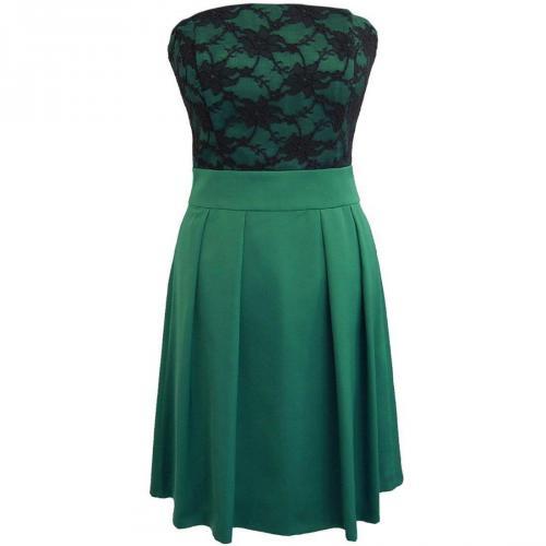 Fashionart Cocktailkleid green mit Spitze
