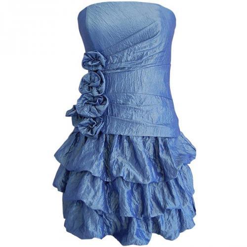 Fashionart Taftkleid Ballkleid blau