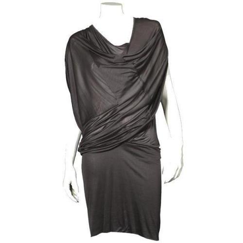 Fifth Avenue Shoe Repair Jersey-Kleid Front Drape anthrazit