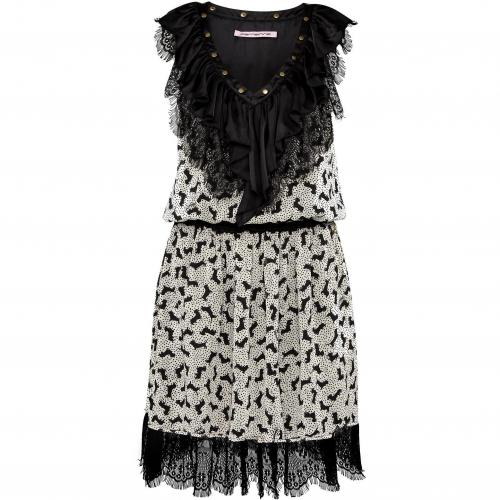 Fornarina Kleid Brendah schwarzweiß