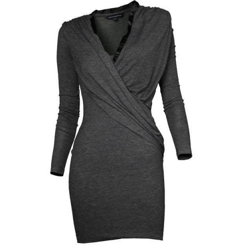French Connection Jersey-Kleid grau meliert