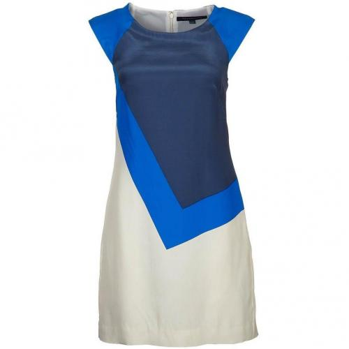 French Connection Tbric A Block Cocktailkleid / festliches Kleid daisy white/bobby blue
