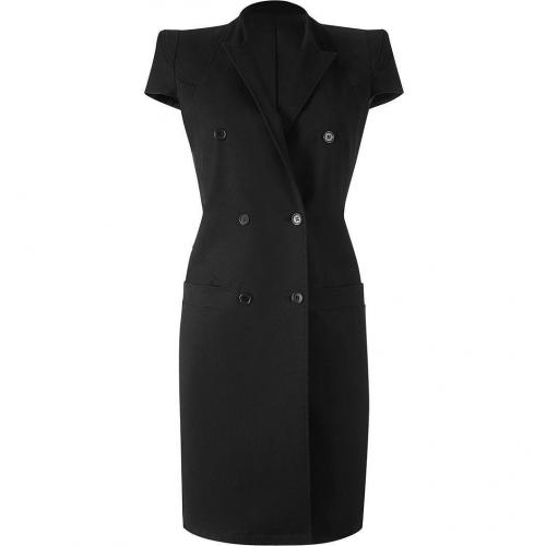 Givenchy Black Padded-Shoulder Kleid