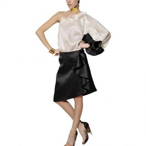 Givenchy Leichtes Krauses Kleid Aus Seidenorganza