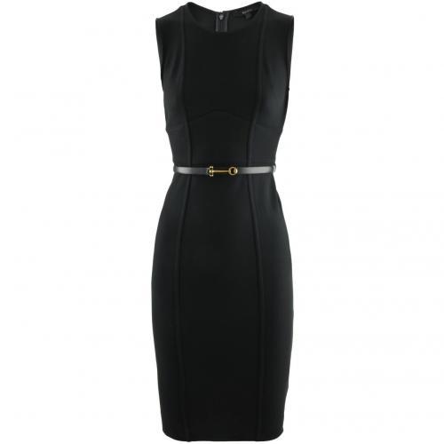 Gucci Black Bridle Belted Dress
