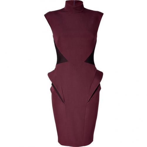 Hakaan Bordeaux Peplum Sheath Dress