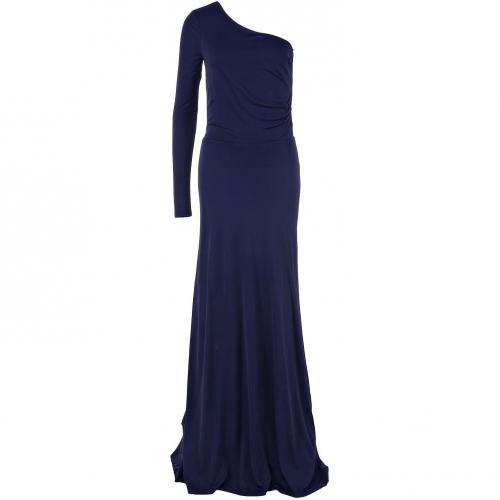 Halston Heritage asymmetrisches Kleid Blau