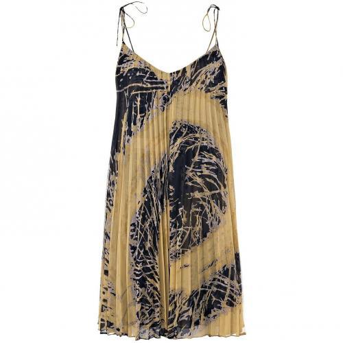 Halston Heritage Kleid Schwarz-Mustard