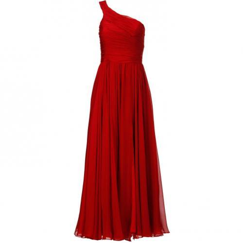 Halston Kleid rot