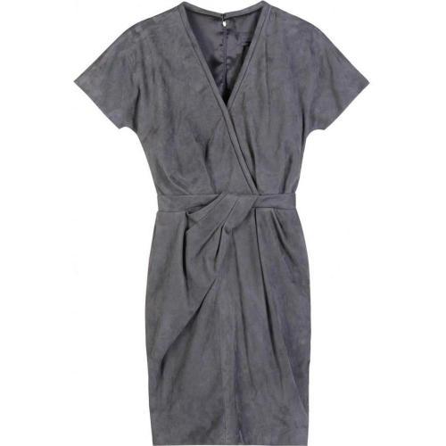 Halston Wrap Tuck Dress