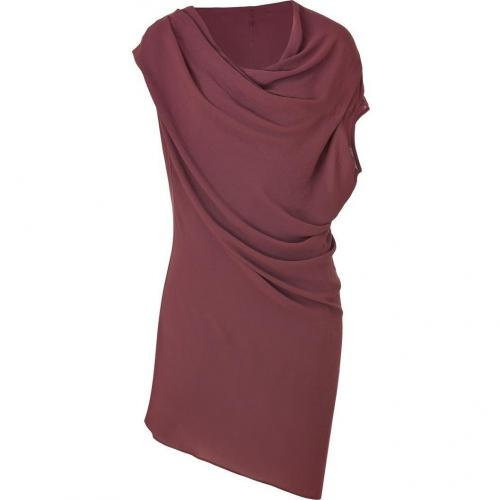 Helmut Lang Bordeaux Asymmetric Draped Dress