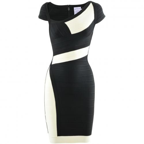 Herve Leger Black Ecru Dress Amber