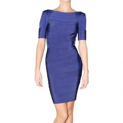 Hervé Léger Kleid In Spandex Blau