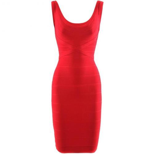 Herve Leger Red Dress Maria