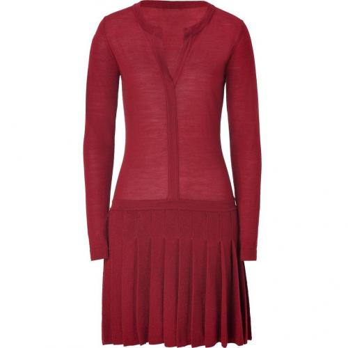 Hoss Intropia Maroon Merino Wool Dress