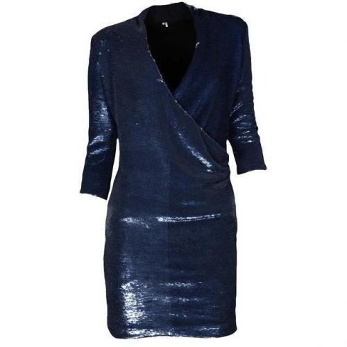 Iro Paillettenkleid in Wickeloptik Baly bleu