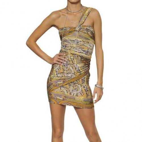 Isabel Marant Bedrucktes Kleid Aus Viskosejersey Gold