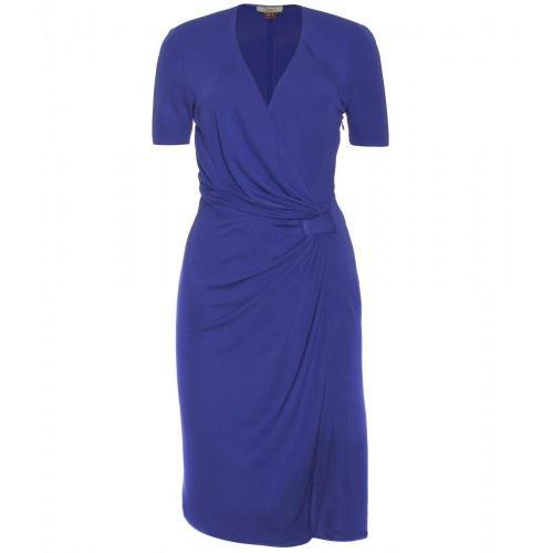 Issa Kleid In Wickel-Optik Deep Blue