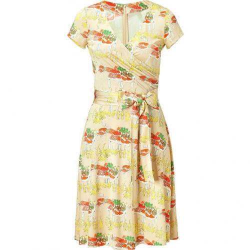 Issa Sand Tie Waist Silk Jersey Dress