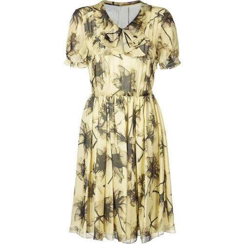 Jason Wu Lemon Floral Chiffon Dress