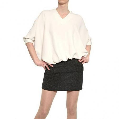 Jay Ahr Jersey Und Laminiertes Leder Kleid
