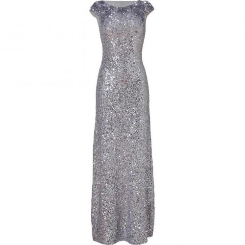 Jenny Packham Light Slate Allover Sequined Gown