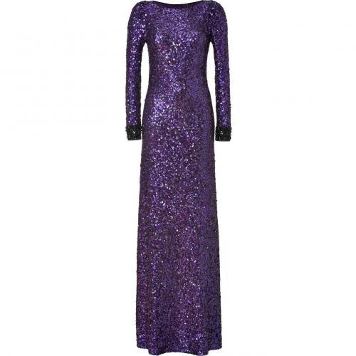 Jenny Packham Sparkling Violet All-Over Sequin Dress