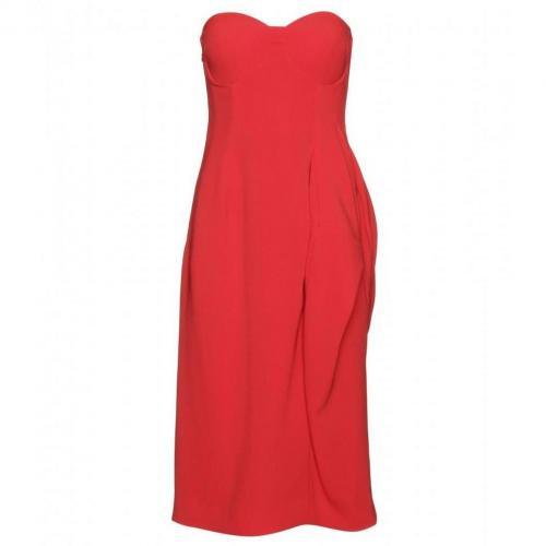 Jil Sander Drapiertes Kleid Rot