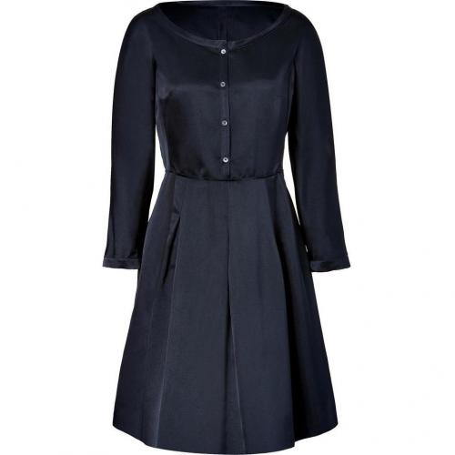 Jil Sander Navy Navy Silk Sateen Dress