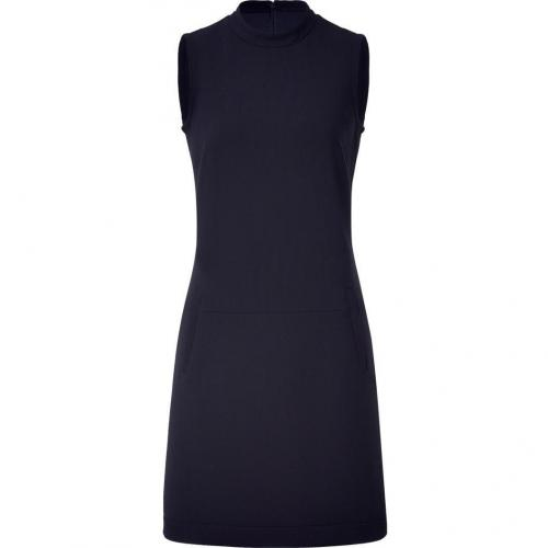 Jil Sander Navy Navy Sleeveless Mock Neck Dress