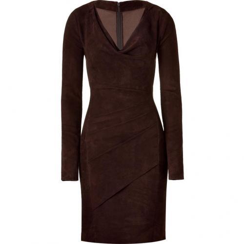 Jitrois Marron Stretch Leather Dress