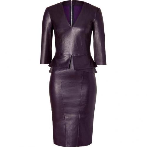 Jitrois Midnight Purple Stretch Leather Dress