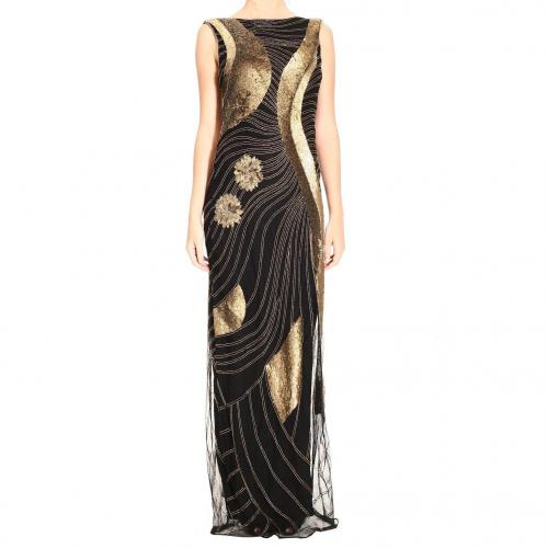 John Richmond Long sleeveless embroidery dress