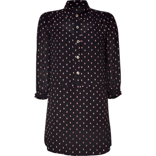 Juicy Couture Black Yorkshire Silk Shirt Dress