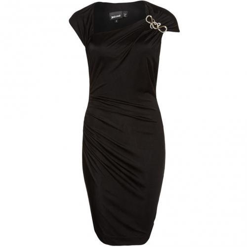Just Cavalli Jerseykleid schwarz kurzärmlig