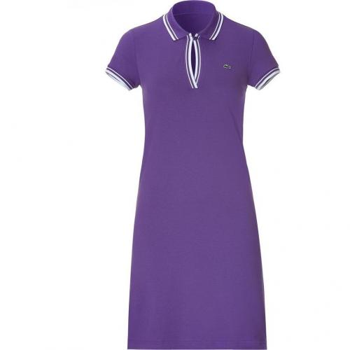 Lacoste Violet/White Shortsleeves Polo-Dress