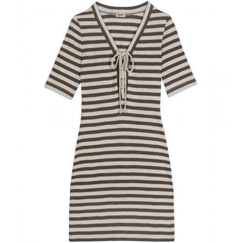 L'Agence Striped Jersey Dress