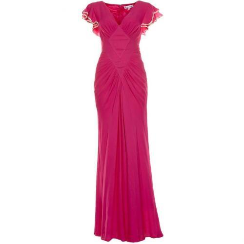 Libelula Long Sofia Plain Maxikleid hot pink