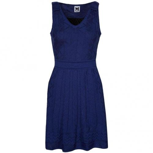 M Missoni Strickkleid blue
