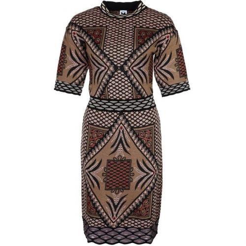 M Missoni Strickkleid braun