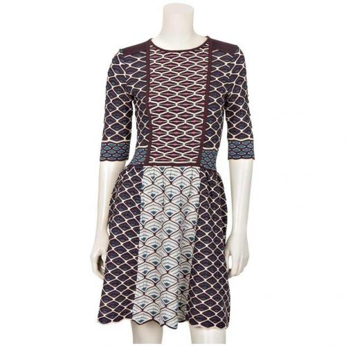 M Missoni Strickkleid Rot Muster