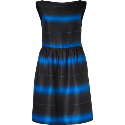 Marc by Marc Jacobs Blue Aster-Multi Striped Cotton-Silk Lida Dress