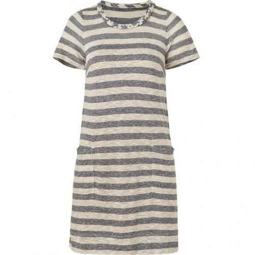 Marc by Marc Jacobs Blue/Creme Striped Pebble Dress