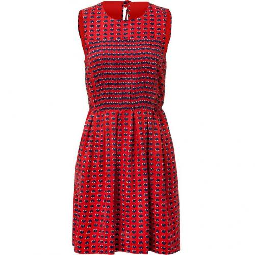 Marc by Marc Jacobs Flame Scarlet Heart Printed Silk Dress