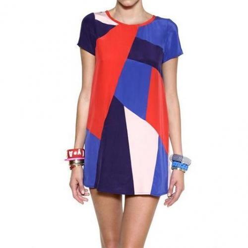 Marc By Marc Jacobs Kurzes Bedrucktes Kleid Aus Crepe De Chine
