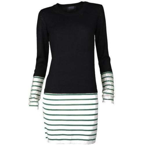 Markus Lupfer Kleid Stripe Dress schwarz